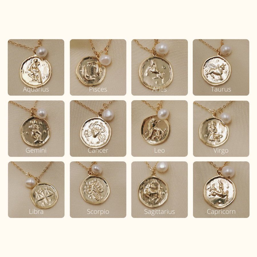 Zodiac | Star Sign Coin Necklace