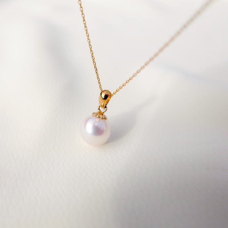 Essentials | Single Pearl Pendant