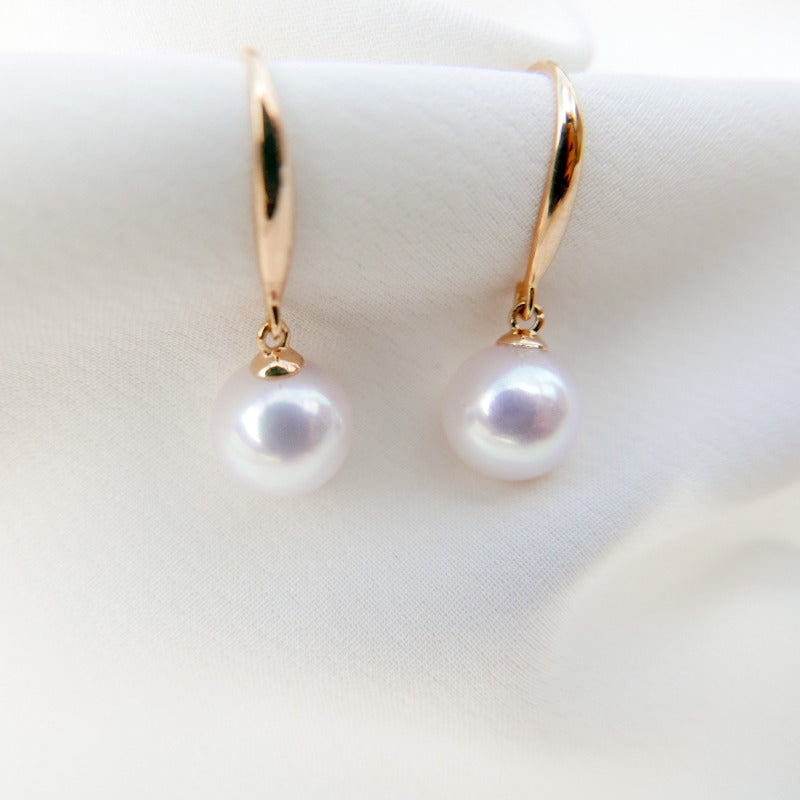 Essentials | Ellison Pearl Earrings (18k Gold)