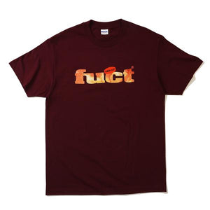 FUCT THICK CUT T-SHIRT BURGUNDY - deviceone