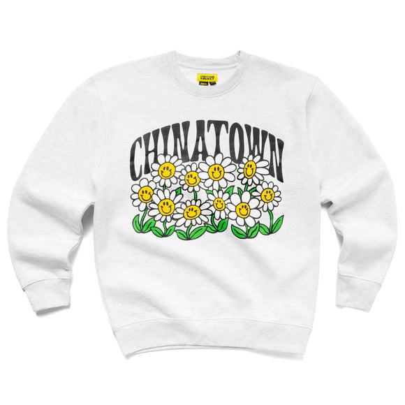 CHINATOWN MARKET FLOWER POWER CREWNECK - deviceone