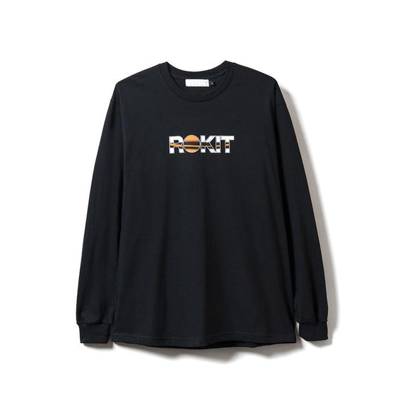 ROKIT ORNAMENT LS TEE BLACK
