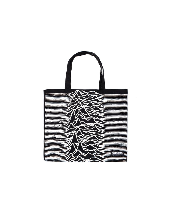 PLEASURES X JOY DIVISION HEAVYWEIGHT TOTE BAG BLACK - deviceone