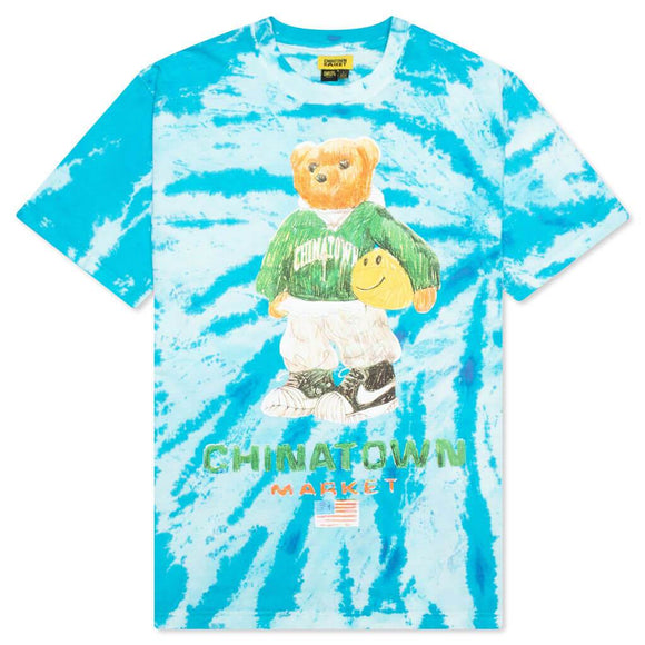 CHINATOWN MARKET SMILEY SKETCH BASKETBALL BEAR TEE - deviceone