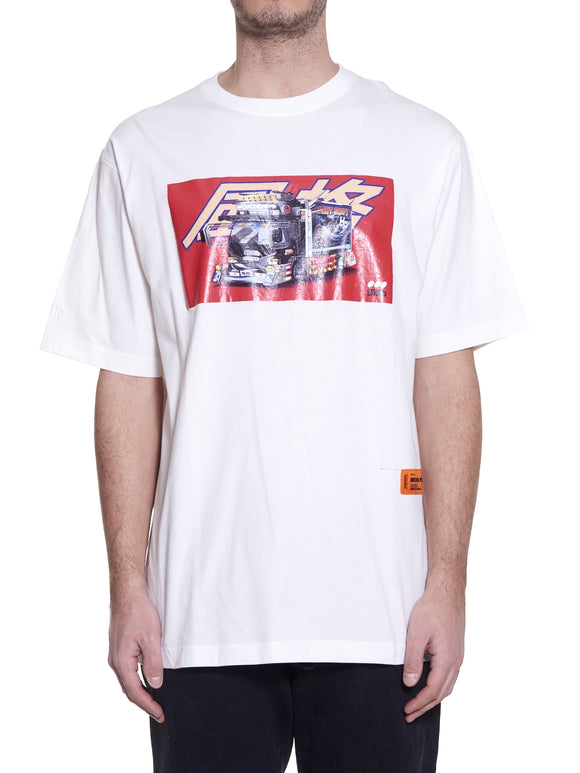 HERON PRESTON DEKOTORA T-SHIRT WHITE