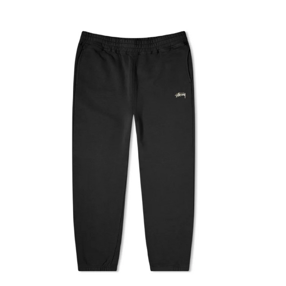 STUSSY STOCK FLEECE PANT BLACK - deviceone