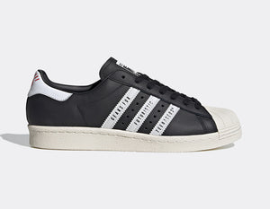 ADIDAS SUPERSTAR 80s HUMAN MADE BLACK - deviceone