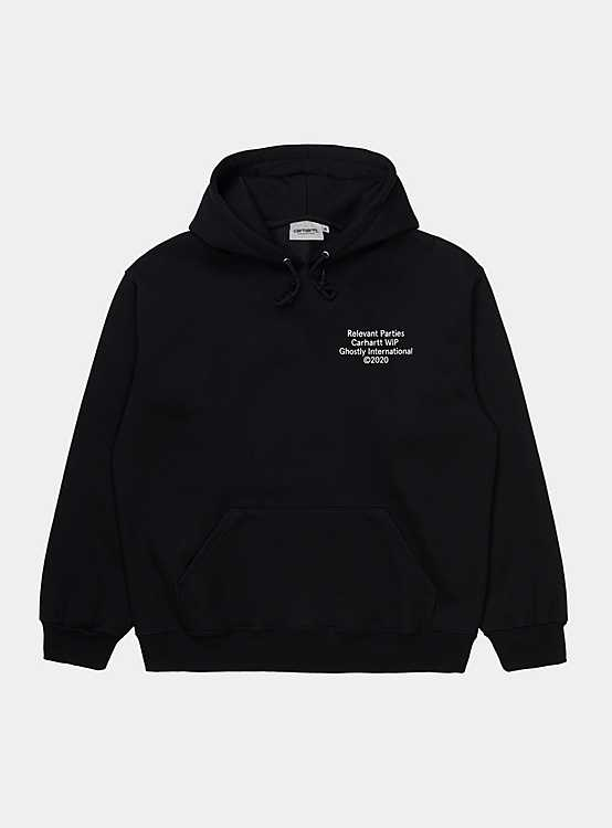 CARHARTT WIP GHOSTLY SWEAT 'BLACK' - deviceone