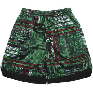 PLEASURES MOTHERBOARD BASKETBALL SHORTS