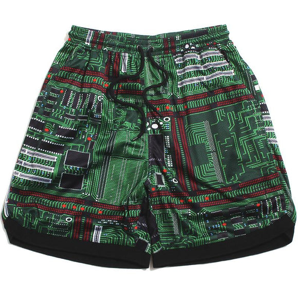 PLEASURES MOTHERBOARD BASKETBALL SHORTS - deviceone