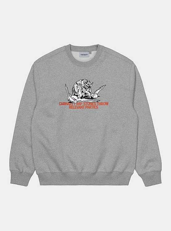 CARHARTT WIP STONES THROW SWEATSHIRT 'GREY' - deviceone