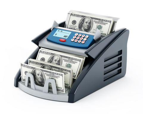 Money counter that counts value