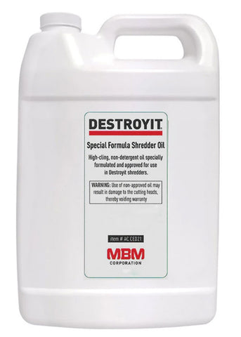 Destroyit Paper Shredder Lubricant (4 one gallon bottles case)