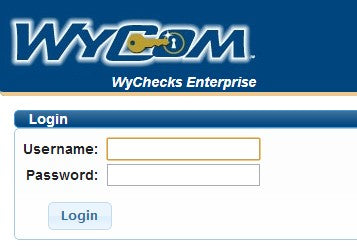 Image of Wycom WyChecks Login