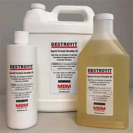 Destroyit Paper Shredder Lubricant (8 one pint bottles case)