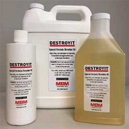 Image of Destroyit Paper Shredder Lubricant 4 one pint bottles