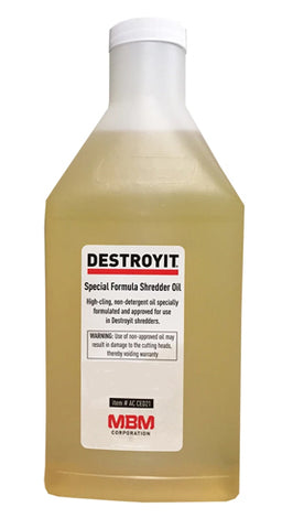 Image of Destroyit Paper Shredder Lubricant 6 one quart bottles