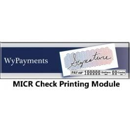 WyPayments MICR Check Printing Module