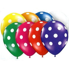 "16"" Latex Balloons - Polka Dots (jewel)"