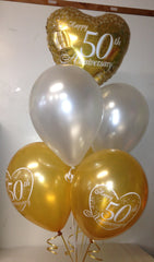50th Wedding Anniversary Bouquet - Gold & Silver