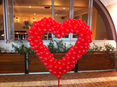 "2m Love Heart Free Standing 5"" Balloons"