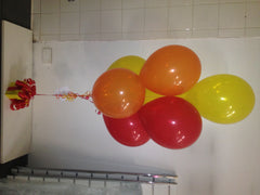Bunch of 7 Balloon Bouquet on Cadbury Chocolate Box
