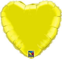 "Decorator Foil - 18"" Citrine Yellow Heart"