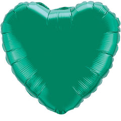 "Decorator Foil - 18"" Emerald Green Heart"