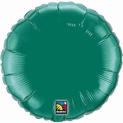 "Decorator Foil - 18"" Emerald Green Round"