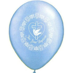 "11"" Latex Balloons - For Your Baptism Boy"