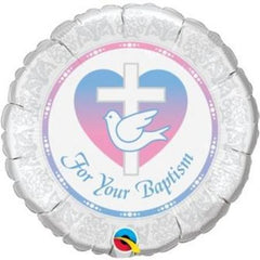 "For Your Baptism Balloon (Boy/Girl) - 18"" Foil"