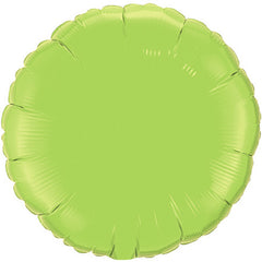 "Decorator Foil - 18"" Lime Green Round"
