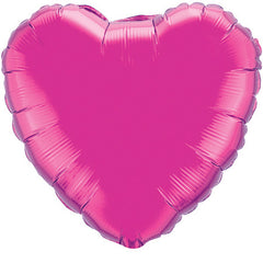 "Decorator Foil - 18"" Magenta Heart"