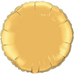 "Decorator Foil - 18"" Metallic Gold Round"