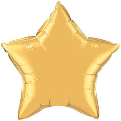 "Decorator Foil - 20"" Metallic Gold Star"