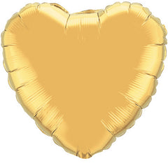 "Decorator Foil - 18"" Metallic Gold Heart"