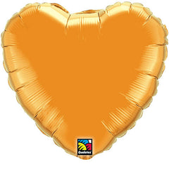"Decorator Foil - 18"" Orange Heart"