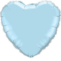 "Decorator Foil - 18"" Pearl Light Blue Heart"