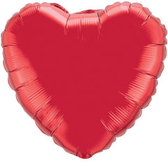 "Decorator Foil - 18"" Ruby Red Heart"