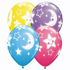 "11"" Latex Balloons - Baby Moon & Stars"