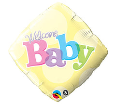 "Welcome Baby Yellow Dots - 18"" Foils"
