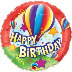 "18"" Foil Balloons - Birthday Hot Air Balloons"
