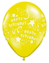 "11"" Latex Balloons - Birthday Stars"