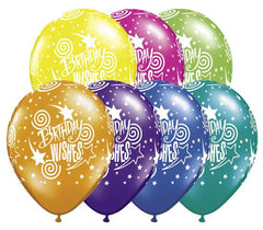 "11"" Latex Balloons - Birthday Wishes"