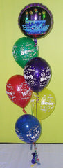 Happy Birthday Cake and Candles - Floor-Standing Bouquet