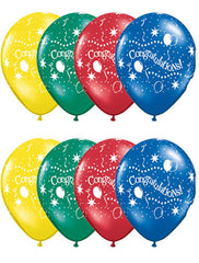 "11"" Latex Balloons - Congratulations! Party"