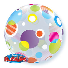 "Bright Dots - 22"" Bubble Balloon"