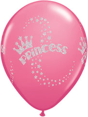 "11"" Latex Balloons - Glitter Princess"