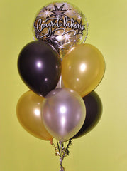 Congratulations Bouquet - Gold/Silver/Black