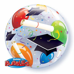 "Graduation Hats - 22"" Bubble Balloon"